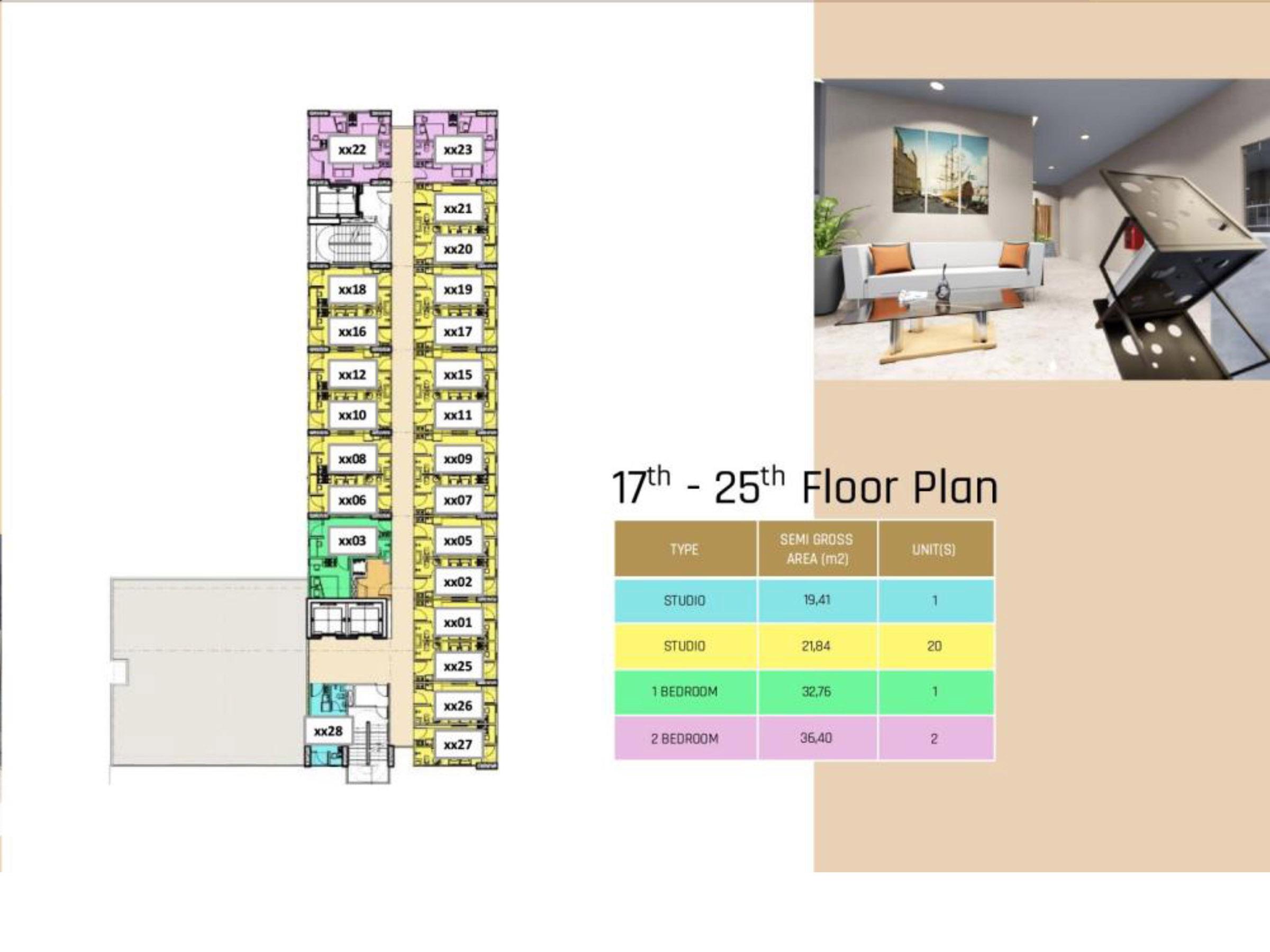 17 – 25 Floor Plan
