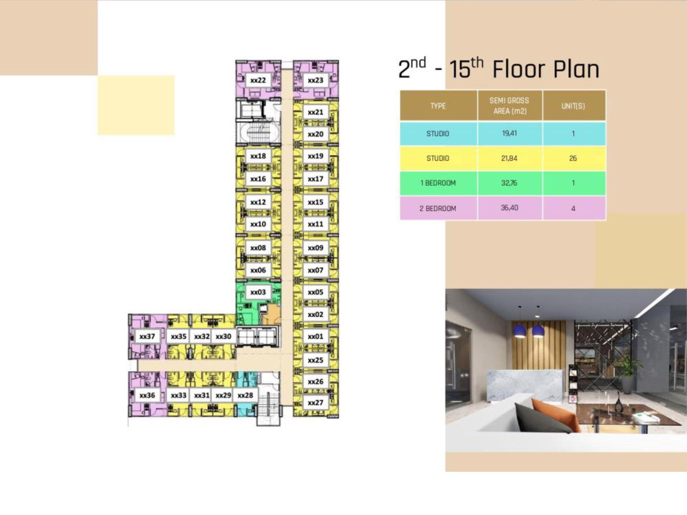 2 – 15 Floor Plan